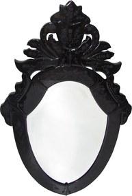 Espelho Veneziano de Moldura Escura com Peças Bisotadas - 80x50cm