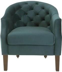 Poltrona Zip, Cadeira, Herval - Veludo Verde, Pé amadeirado