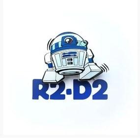Mini Luminária 3D Light FX Star Wars R2-D2