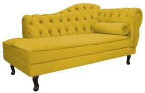 Recamier Diana 140cm Lado Esquerdo Suede Amarelo - ADJ Decor