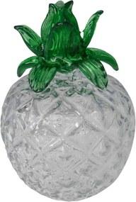 peça decorativo ABACAXI  vidro  diâm 12 cm Ilunato BH0021