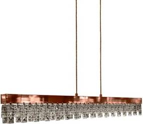 Pendente Metal Cristal Rose Gold Led 18W 3000K