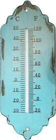 Termômetro em Metal Trabalhado Azul