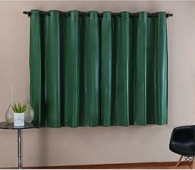 Cortina DOURADOS ENXOVAIS Blackout PVC Verde Corta Luz 2,80m X 1,60m