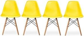 Conjunto 4 Cadeiras Eiffel Eames DSW Amarela