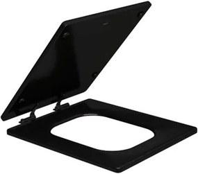 Assento Termofixo Ébano com Slow Close Quadratta e Ferragem Black Noir - AP.44.BL.NO.95 - Deca - Deca