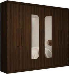 Guarda Roupa Casal 6 Portas Com Espelho Absolut Gelius Nogueira