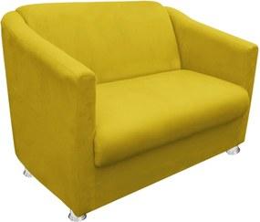 Namoradeira Decorativa Tilla 2 Lugares Suede Amarelo - D'Rossi