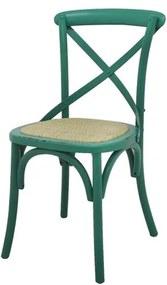 Cadeira Katrina Madeira Assento em Rattan cor Verde - 55474 Sun House