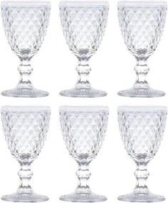 Jogo De Taças Para Vinho Bico de Abacaxi Transparente 6 pcs