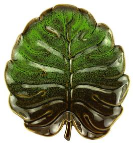 Folha Decorativa Cerâmica Verde 21x20x2cm 61097 Royal