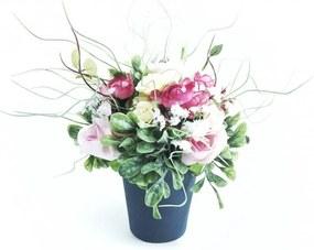 Vaso de Cerâmica com flores