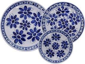 Aparelho de Jantar em Porcelana Azul Colonial 18 peças