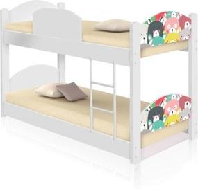 Beliche Infantil Ursinhos Coloridos com 2 Colchões CASAH