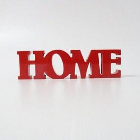 Letreiro em MDF Home Vermelho 30x8,4 cm Vermelho