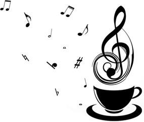 Adesivo de Parede Divanet Música Preto