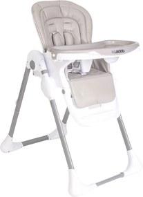 Cadeira De AlimentaçÁo Smile Bege Com Branco