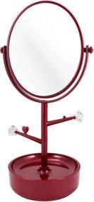 Espelho de Mesa com compartimento para jóias Jacki Design Espelho Vermelho
