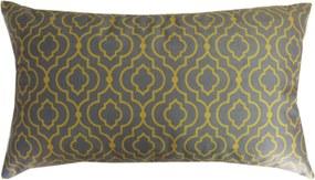 Capa almofada LYON Veludo estampado Geométrico Mostarda e Chumbo 30x50cm