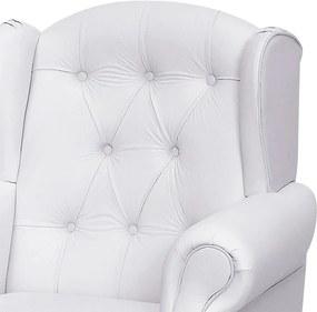Poltrona de Amamentação Pietra Fixa Corino Branco