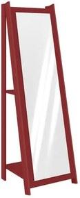 Espelheira 1,61m com 2 Prateleiras - Vermelho