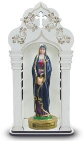 Capela 34 cm Com Imagem Nossa Senhora Das Dores Inquebrável