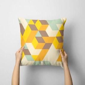 Capa de Almofada Avulsa Decorativa Geométrico Amarelo 35x35cm