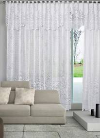 Cortina em Renda Branca 300x180 cm