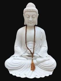 Buda em Marmorite 55cm + Japamala