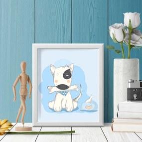 Quadro Decorativo Infantil Dog Baby Branco - 20x30cm