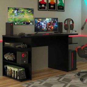Mesa para Computador Gamer Madesa 9409 Preto Cor:Preto