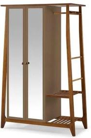 Armario Multiuso Stoka 2 Portas Marrom Claro Estrutura Amendoa 169cm - 60969 Sun House