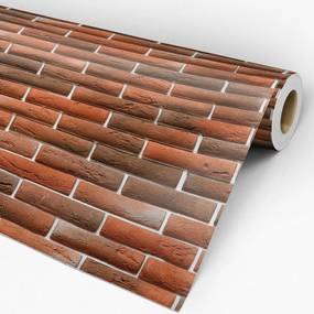 Papel de parede adesivo tijolo vermelho escuro