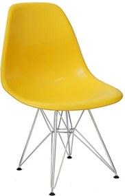 Cadeira Sydney em Polipropileno Amarela