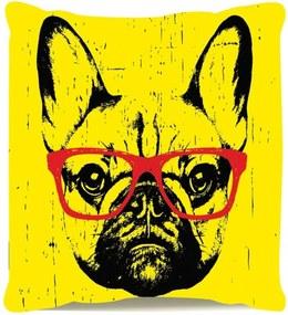 Almofada Decorativa Cheia Personalizada Estilo Dog Amarela