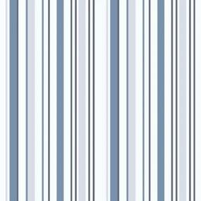 Papel de Parede Lymdecor Coleção Bambinos Listras 3318 Bobinex Azul