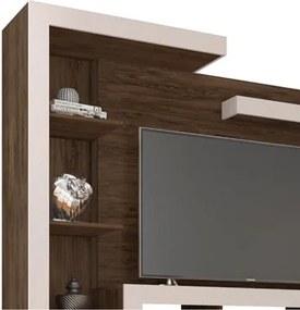Estante Home para TV até 60 Polegadas New Dallas Cedro/Nude - Móveis Leão