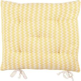 Assento Campestre Missoni de 40 x 40 cm Amarelo