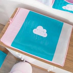 Trocador de Bebê Nuvem Tiffany com Rosa