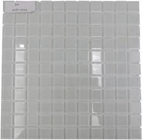 Pastilha Vidro Gloss Branco 4mm 2,5x2,5