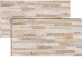 Revestimento Canjiquinha Bege 33x59cm - LF33501 - LEF - Via Apia