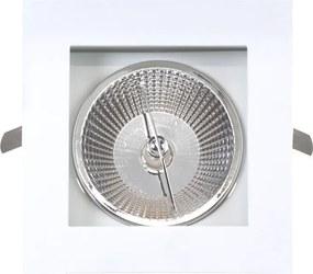Plafon Embutir Aluminio Branco R111 15,5cm