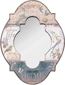 Espelho Love Life Home Pássaros Oldway - 61x45x4 cm