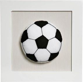 Quadro Decorativo Bola Futebol Potinho de Mel Bege