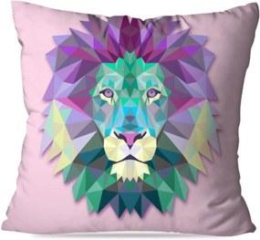 Almofada Love Decor Wevans Avulsa Decorativa Leão Geométrico