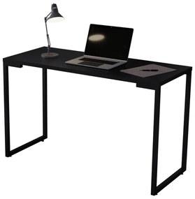 Mesa Escrivaninha Adelle 120cm Para Escritório e Home Office Industrial Preto - ADJ DECOR