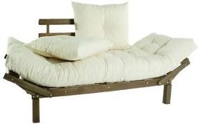 Sofa Cama Country Comfort Stain Nogueira + Almofadas Futon 190cm - 61402 Sun House