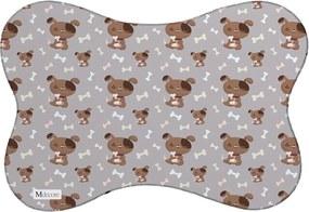 Tapete PET Mdecore Cachorro Marrom 46x33cm