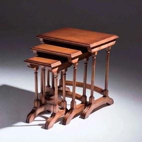 Jogo de Mesa de Canto Ninho Victory Madeira Maciça Design Clássico Avi Móveis