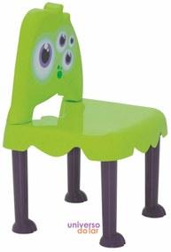 Cadeira Tramontina Infantil Monster em Polipropileno - Verde  Verde